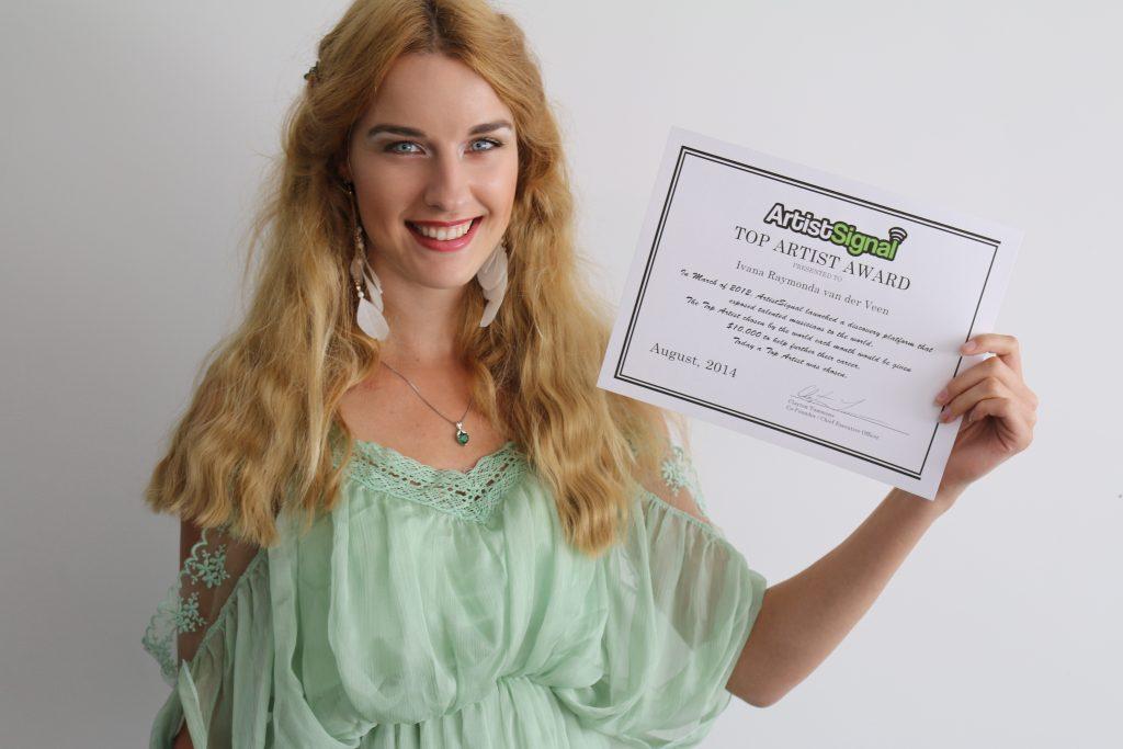 ArtistSignal - Ivana Raymonda van der Veen - Top Artist Award